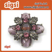 Supplier wholesale acrylic metal rhinestone brooch
