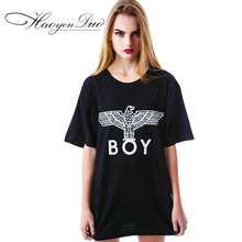 Buy T-Shirt Women Clothes Summer T Shirt Womens Clothing spring letter BOY female short sleeve Eagle pattern punk Kleding for $15.05 in AliExpress store
