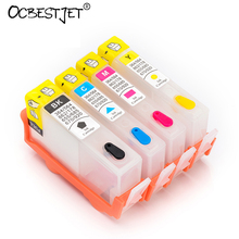 4 Colors For HP 655 HP655 Empty Refillable Ink Cartridge With Resettable Chip For HP Deskjet 3525 4615 4625 5525 6525 Printer