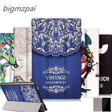 Unique design Color Painted Magnetic Smart Cover For Amazon Kindle New Fire HD 8 HD8 2016 8.0 inch Tablet PU Leather Case Flip