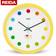 REIDA Brand 8 Inch Children Room Wall Clock Brief Fashion Home Decor Clock Bedroom Mute Quartz Clock Modern Design