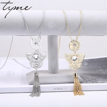 TYME Ethnic Neckllace Silk Thread Wrapped Necklace For Women Statement Choker Necklace For Women TrendChristmas Gift(China)