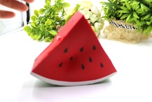 Jumbo Watermelon Phone Straps Pendant Squishy Slow Rising Keychain Charms Fruit Scented Pendant Bread Kid Toy Gift P15