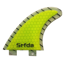 surf fins surfboard fins with fiberglass honey comb material fot surfing(Tri-set)size-M 2PCS/set size-XS