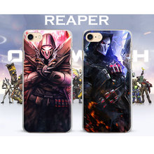 Ow Game Heroes REAPER HANZO GENJI D.va MCCREE Phone Case Cover For Apple iPhone X 8Plus 8 7Plus 7 6sPlus 6s 6Plus 6 5 5S SE 4S 4(China)