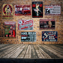 [ Mike86 ]  LUCK LADY MOTOR OIL Tin signs Poster Room Art Painting Antique Pub Club Home Hall Decor 20X30 CM AA-544