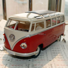 Brand New 1/24 Scale Diecast Car Model Toys 1962 SAMBA Bus Metal Classic Car Model Toy For Gift/Collection/Kids