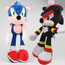 2017 Anime Cartoon Super Sonic the Hedgehog Plush Toys Peluche Dolls Brinquedos Gift 30cm 2pcslot(China)