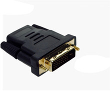 DVI-D Male (24+1 pin) to HDMI Female (19-pin) HD HDTV Monitor Display Adapter to DVI Gold plated Connector Adapter Jan11