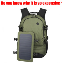 EP Solar Charging Fashion Men Soft Casual Laptop Backpack Europe Waterproof Weekender Multifunction 35L Travel Bag Computer Bag