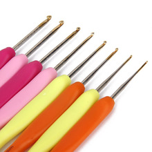 New Exclusive Offer 8pcs/set handle Hook Crochet hooks Template Kit TPR Knitting Needles For Loom Tool Band DIY Crafts 1-2.75mm(China)