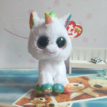 Hot Ty Beanie Boos Big Eyes Small Unicorn Plush Toy Doll Kawaii Stuffed Animals Collection Lovely Children's Gifts(China)