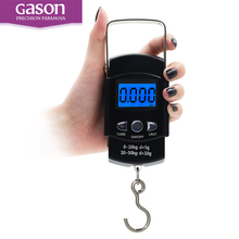 GASON X1 Portable Digital Luggage Scale Travel Electronic Mini Hanging Measuring Tools Gram Precision Balance Pocket LCD 50KG(China)