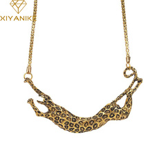 New Maxi Necklaces Antique Leopard Necklaces & Pendants Personalized Statement Necklaces For Women Party Jewelry 080