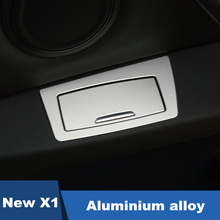 Aluminium alloy Car Door Ashtray panel sequins decoration cover trim 3D stickers for BMW New X1,1,3 series,2 series wagon