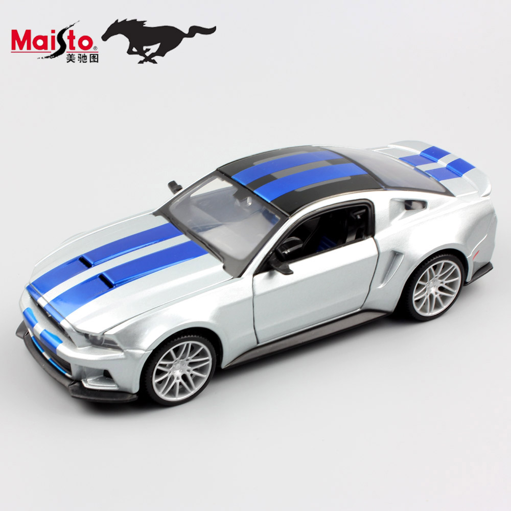 1:24 Diecast Scale kids maisto 2014 ford mustang racing miniaturas sport car auto model vehicle gift toys for children boys 2017(China (Mainland))
