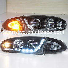 1992--2009 Year  For PROTON Wira LED Head Lamp front lights Headlights with projector lens YZtype