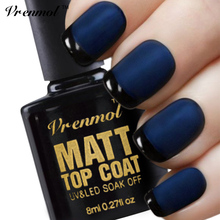 Vrenmol 1pcs Matt Top Coat UV Gel Nail Polish Soak Off Matte Top Coat Frosted Surface Esmaltes Transparent Gel