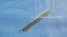 10pcs 2x50 P 100 pin 1.27mm Pitch Pin Header male dual row Male straight gold flash Rohs Reach double rows pitch 1.27