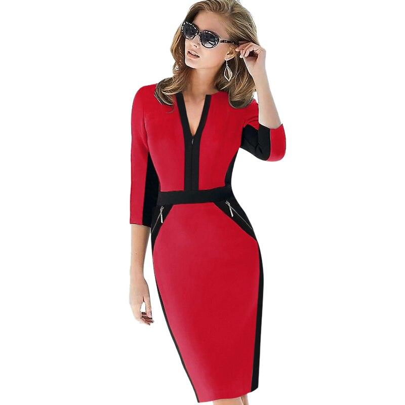 Plus Size Elegant Bodycon Pencil dress 32