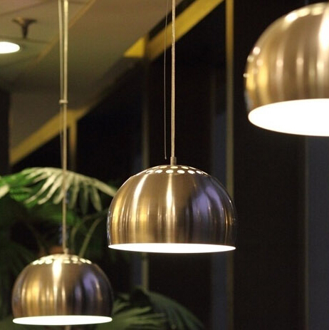 Suspension light fixture Modern Hollow Stainless steel Semicircular Fashion Pendant Light Half Round Ball indoor lampshade<br><br>Aliexpress