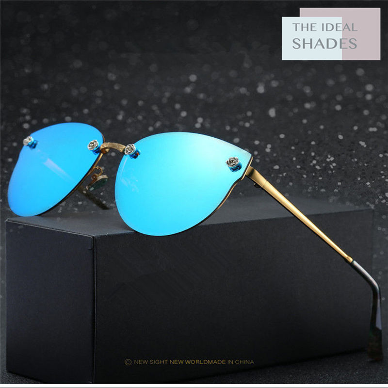 TheIdealShades Fashion Sunglasses Women Popular Brand Design Polarized Sun glasses Summer HD Polaroid Lens shades(China)