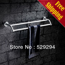Free Shipping Double Towel Bar/Towel Rack/Towel Holder,Space Alumina Made,Matte Finished,Bathroom hardware,Bathroom accessories