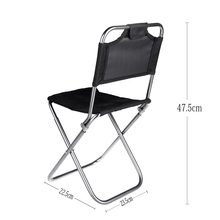 Portable Backrest Camping Chair Fishing Folding Chair Light Weight Packed Seat Stool For Picnic Barbecue Big Load Bearing