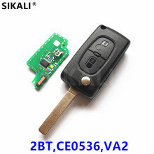 (2BT CE0536 VA2) Remote Key for 207 208 307 308 408 Vehicle Car Auto Remote Control ASK/FSK Signal for Peugeot(China)