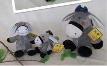 high quality goods,lovely donkey plush toy ,Christmas gift h51(China)