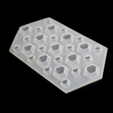 White Silicone Diamond Mold Ice Cube Tray Pendant Making Jewelry Tools Ice Mold DIY tools 23x12cm