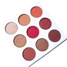 free delivery 9 Colors Diamond Bright Makeup Eyeshadow Naked Smoky Palette Make Up Set Eye Shadow Maquillage Professional Cos