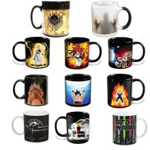 The walking dead /Star wars /Dragon Ball Z /Batman vs Superman /Captain America mug Reactive Magic Color Changing Mug Coffee Cup(China)