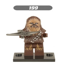 2Star Wars Force Awakens Chewbacca Han Solo Luke Skywalker Bricks Building Blocks Collection Toys children XH 199 - Block Toy s store