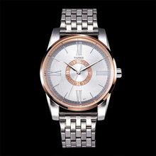 94df414a827 YAZOLE Marca de Topo Homens Relógio de Pulso Pulseira de Relógio de Quartzo  Banda de Aço Inoxidável Moda Grande Número Romano Re.