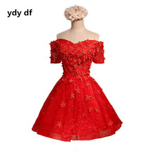 Fashion beautiful flower color short sleeve women Cocktail Dresses (miss)(China)