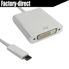 USB 3.1 USB-C USB Type C to DVI converter adapter cable Apple The New Macbook/ Chromebook Pixel/Dell XPS 13/Yoga 900/Lumia 950