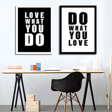 Modern Minimalist Picture Art Black White Love Quotes A4 Poster Print Picture Canvas Painting Wall Art Home Decor Wall Painting