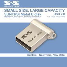 Suntrsi Usb Flash Drive Mini Pen drive 64GB 16GB 8GB USB 2.0 Flash Drive Pendrive New Usb Stick Custom USB Flash mini gift