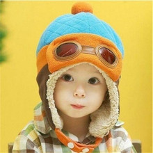 Hot Sale 1 pcs New Arrival Winter Cool Kids Unisex Boys Girls Pilot Cap Aviator Warm Earflap Hat Beanie Clothing Accessories