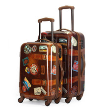 New Retro Rolling Luggage Spinner Trolley Travel Bag Student Password 20' Boarding Bag Trunk Suitcase Men Women Zipper Suitcase