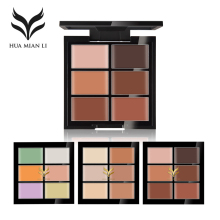 HUAMIANLI Face Concealer Palette Contouring Makeup Cream Conceal Blemish Acne Freckle Pores Waterproof Highlighter 3D Cosmetics(China)