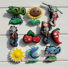 Wholesale,100pcs/ Lot   PLANTS VS ZOMBIES  charms/shoe accessories  for clogs,Kids favor,Party gift