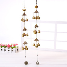 Large Wind Bells Copper Wind Chimes Bell Outdoor Decorations Good Lucky Metal Pagoda for Hanging Home Decor