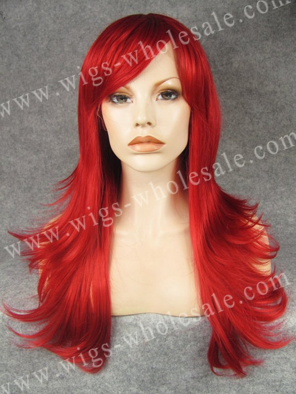 Straight Swiss Red Celebrity Lace Front Wig Synthetic Halloween Christmas gift<br><br>Aliexpress