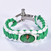 Marshall Thundering Herd Custom Paracord Bracelet NCAA College Football Bracelet Survival Bracelet, Drop Shipping! 6Pcs/lot!