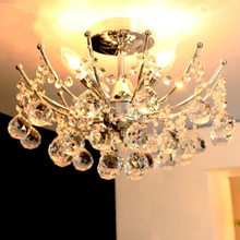 Modern simple bedroom lights Parlor glass ball lamp European K9crystal ceiling lamp Living room lighting Restaurant LED lighting