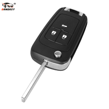 DANDKEY 3 Button Flip Folding Remote Key Fob Case Uncut Blade For Chevrolet Cruze Aveo 2011-2012(China)