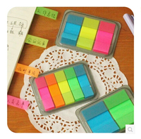3 Pcs / Pack Colored Notes Rainbow Sticky Notes Memo Paper Stickers Kawaii Stationery Office Material School Supplies