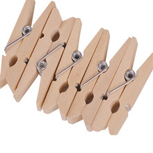 100pcs Wooden Pegs Mini Natural Wooden Clothes Pin Photo Paper Peg Clothespin Craft Clips 25*3mm JK0451